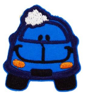 Patch Bordado Termocolante Carro Azul