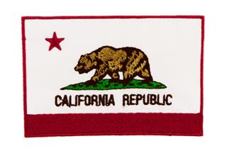 "Patch Bordado Termocolante Bandeira ""California Republic"""