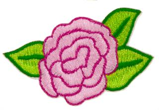 Patch Bordado Termocolante Rosa - Modelo 1