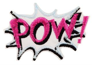 "Patch Bordado Termocolante ""Pow!"" Rosa"