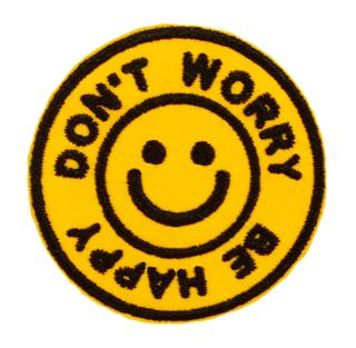 "Patch Bordado Termocolante ""Don't Worry Be Happy"""