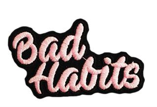 "Patch Bordado Termocolante ""Bad Habits"""