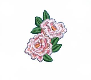 Patch Bordado Termocolante Flores Rosa Pequena