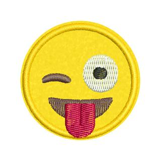 Patch Bordado Termocolante Emoji Maluco