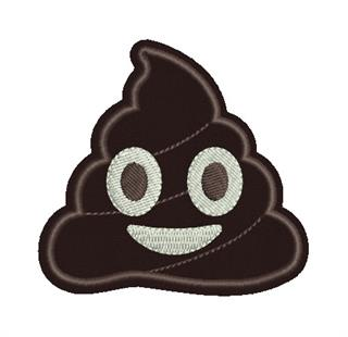 Patch Bordado Termocolante Emoji Cocô