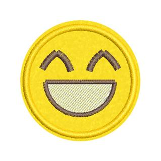 Patch Bordado Termocolante Emoji Feliz