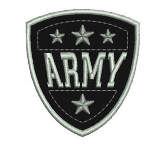 "Patch Bordado Termocolante Escudo ""Army"""