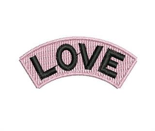"Patch Bordado Termocolante ""Love"" Rosa"