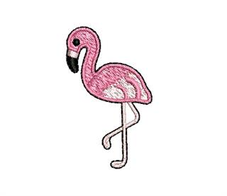 Patch Bordado Termocolante Mini Flamingo