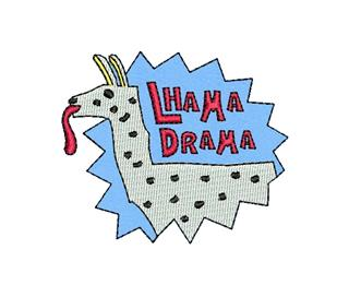 "Patch Bordado Termocolante ""Lhama Drama"""