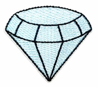 Patch Bordado Termocolante Diamante