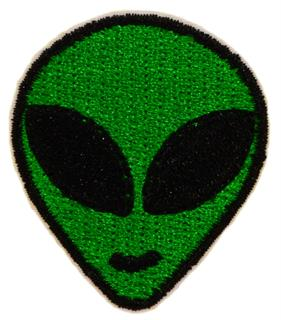 Patch Bordado Termocolante Alien Verde