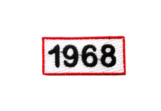 "Patch Bordado Termocolante Etiqueta ""1968"""