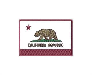 "Patch Bordado Termocolante Mini Bandeira ""California Republic"""