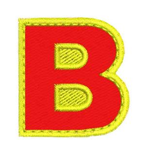 Patch Bordado Termocolante Letra B