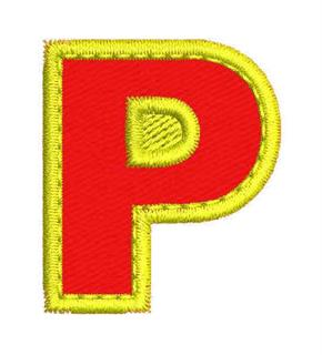 Patch Bordado Termocolante Letra P