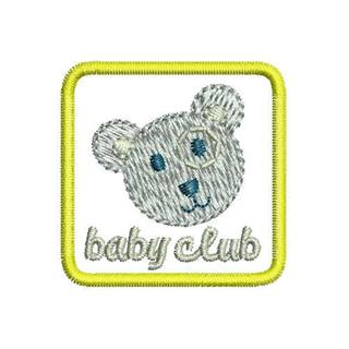 "Patch Bordado Termocolante ""Baby Club"" Amarelo"