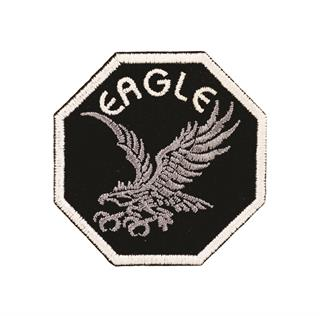 "Patch Bordado Termocolante ""Eagle"" Preto"