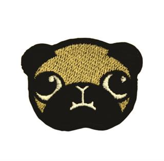 "Patch Bordado Termocolante ""Cão Pug"""