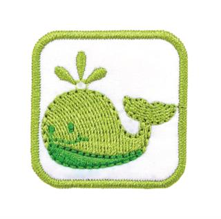 "Patch Bordado Termocolante ""Baleia Verde"""