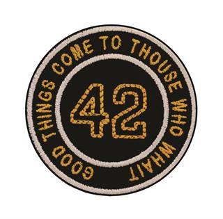 "Patch Bordado Termocolante ""Good Things Come To Those Who Wait"" 42"
