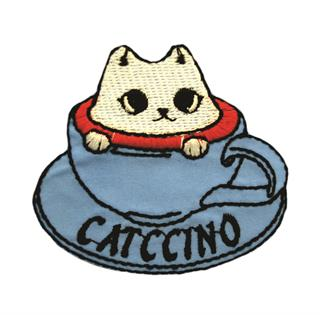 "Patch Bordado Termocolante ""Catccino"""