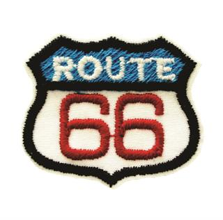"Patch Bordado Termocolante ""Route 66"" Azul"
