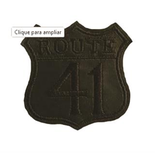 "Patch Bordado Termocolante ""Route 41 Preto"""