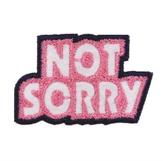 "Patch Bordado Termocolante ""Not Sorry Maior"""
