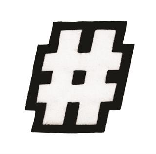"Patch Bordado Termocolante ""Hashtag #"""