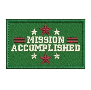 "Patch Bordado Termocolante ""Mission Accomplished"""