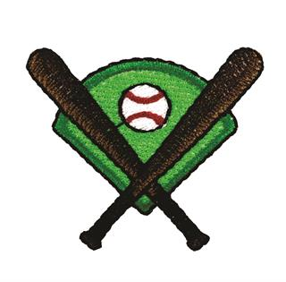 "Patch Bordado Termocolante ""Tacos De Baseball"""