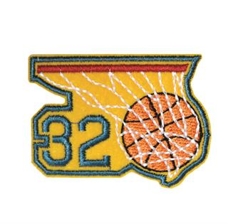 "Patch Bordado Termocolante ""Aro Basquete ""32"""