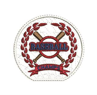 "Patch Bordado Termocolante ""Baseball Champs"""